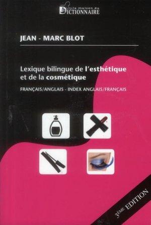 Lexique bilingue de l'esthétique et de la cosmétique - la maison du dictionnaire - 9782856082911 -