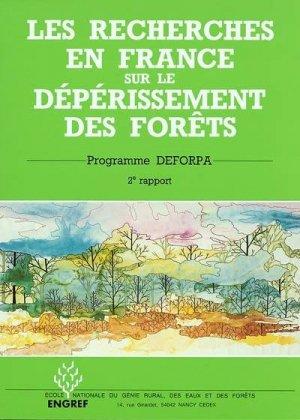 Les recherches en France sur le dépérissement des forêts - agroparistech - 9782857100270 -