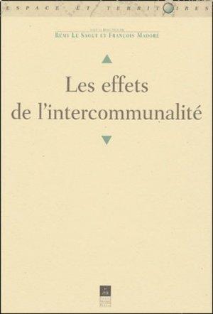 Les effets de l'intercommunalité - presses universitaires de rennes - 9782868479709 -