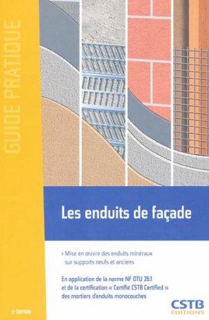 Les enduits de façades - cstb - 9782868914446 -