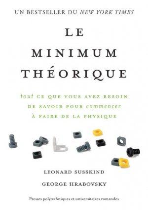 Le minimum théorique - presses polytechniques et universitaires romandes - 9782889151158