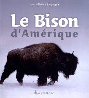 Le Bison d'Amérique - presses universitaires du septentrion - 9782894486900 -