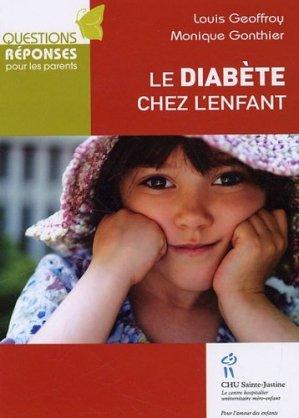 Le diabète chez l'enfant - chu sainte-justine - 9782896191536 -