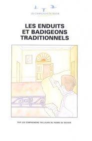 Les enduits et badigeons traditionnels - compagnonnage - 9782901362395 -