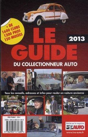 Le guide 2013 du collectionneur auto - la vie de l'auto - 9782905171689 -