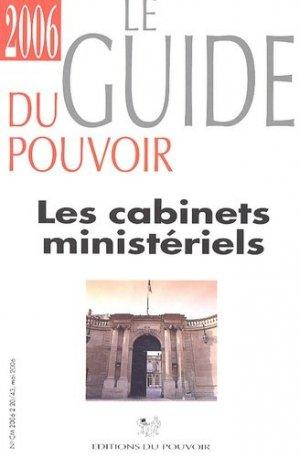 Les Cabinets ministériels - Editions du Pouvoir - 9782906545922 -