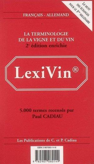 LexiVin/LexiWine 2002 - Paul Cadiau - 9782907080149 -