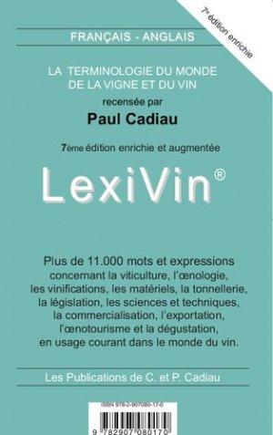 Lexivin français-anglais - cadiau - 9782907080170 -