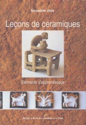 Leçons de céramiques - La Revue de la céramique et du verre - 9782908988048 -