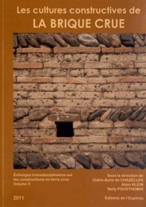 Les cultures constructives de la brique crue - de l'esperou - 9782912261588 -