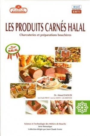 Les produits carnés halal Charcuteries et préparations bouchères  - erti - 9782913338074 -