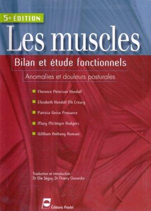 Les muscles  bilan et étude fonctionnels - pradel - 9782913996656 -