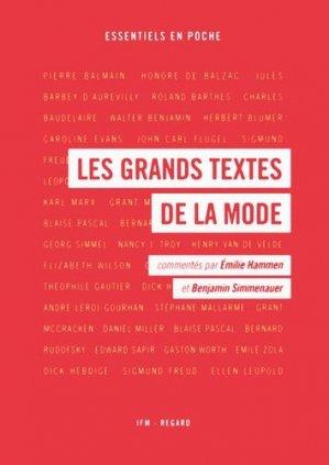 Les Grands textes de la mode - ifm / regard - 9782914863346 -