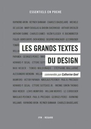 Les grands textes du design - Editions du Regard - 9782914863360 -