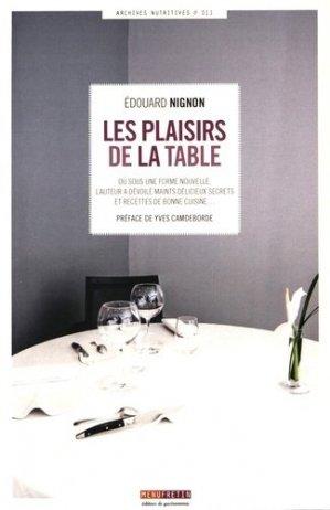 Les plaisirs de la table - Menu Fretin - 9782917008935 -