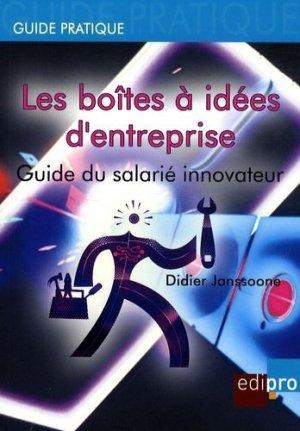 Les boîtes à idées d'entreprise - Edipro/CCI Liège - 9782930287935 -