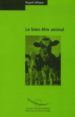 Le bien-être animal - conseil de l'europe - 9789287160157 -