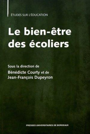 Le bien-être des écoliers - Presses Universitaires de Bordeaux - 9791030000900 -