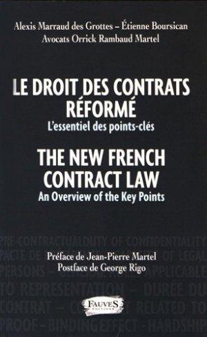 Le droit des contrats réformés. L'essentiel des points-clés, Edition bilingue français-anglais - fauves - 9791030200348 -