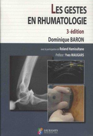 Les gestes en rhumatologie - sauramps medical - 9791030301892 -
