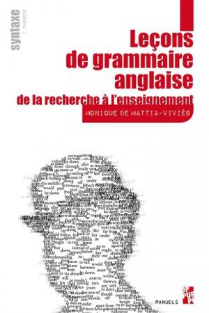 Leçons de grammaire anglaise : de la recherche à l'enseignement - publications de l'universite de provence - 9791032001776 -