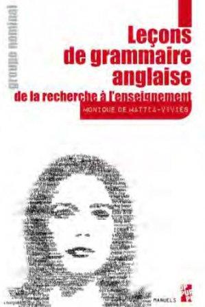 Leçons de grammaire anglaise - publications de l'universite de provence - 9791032002070 - kanji, kanjis, diko, dictionnaire japonais, petit fujy