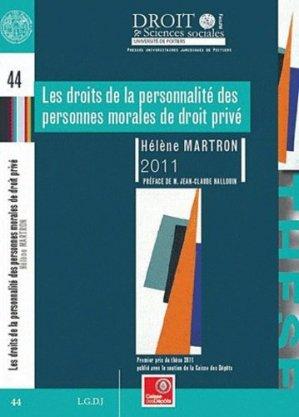 Les droits de la personnalité des personnes morales de droit privé - Presses universitaires juridiques de Poitiers - 9791090426115 -