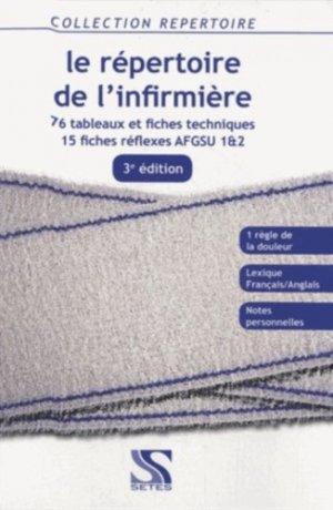 Le répertoire de l'infirmière - setes - 9791091515085