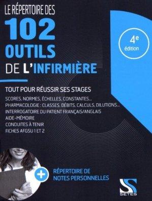 Le répertoire des 102 outils de l'infirmière - setes - 9791091515580 -
