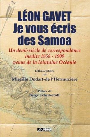 Léon Gavet - Je vous écris des Samoa - Editions du volcan - 9791097339272 -