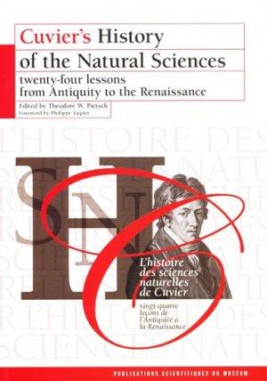 L'histoire des sciences naturelles de Cuvier - museum national d'histoire naturelle - mnhn - 9782856536841 -