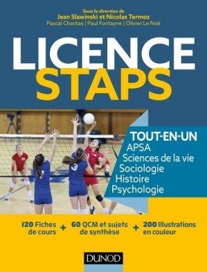 Licence STAPS Tout en Un - 200 fiches de cours, QCM, sujets de synthèse - dunod - 9782100757381 -
