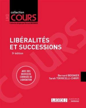 Liberalités et successions - LGDJ - 9782275064871 -