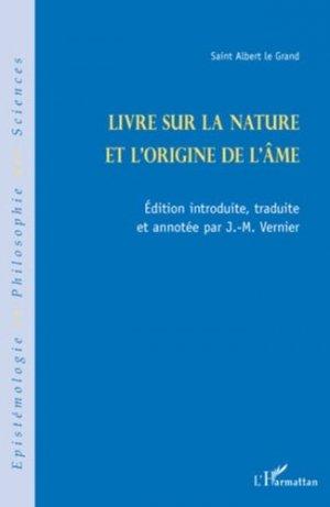 Livre sur la nature et l'origine de l'âme - l'harmattan - 9782296099487 -