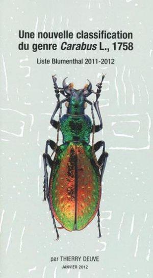Une nouvelle classification du genre Carabus L., 1758 - magellanes - 9782353870912 -