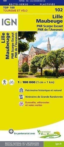 Lille Maubeuge. 1/100 000 - Institut Géographique National - 9782758543558 -