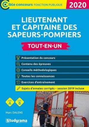 Lieutenant et capitaine des sapeurs-pompiers professionnels - studyrama - 9782759042043 -
