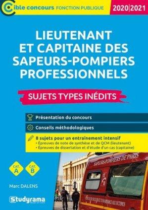 Lieutenant et capitaine des sapeurs-pompiers professionnel. Sujets types inédits, Edition 2020-2021 - studyrama - 9782759044184 -