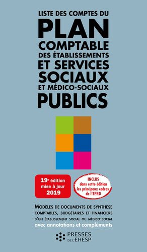 Liste des comptes du plan comptable des ESMS publics - EHESP - 9782810907663