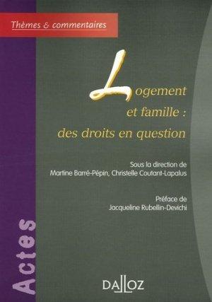 Logement et famille : des droits en question - dalloz - 9782247064076 -