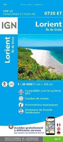 Lorient Ile de Groix. 1/25 000, 5e édition - Institut Géographique National - 9782758539315 -