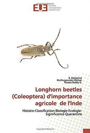 Longhorn beetles (Coleoptera) d'importance agricole de l'Inde - editions universitaires europeennes - 9786139558940 -