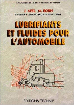 Lubrifiants et fluides pour l'automobile - technip - 9782710807285 -