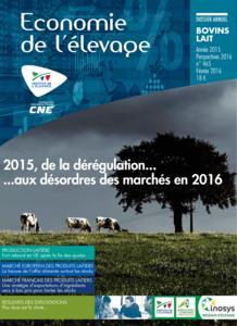 2015 : l'année économique bovins lait. Perspectives 2016 - technipel / institut de l'elevage - 2224671128971 -