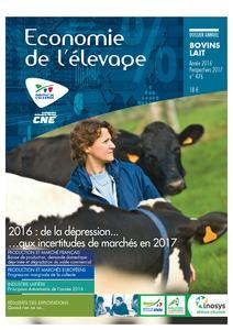 2016 : l'année économique bovins lait. Perspectives 2017 - technipel / institut de l'elevage - 2224960648289 -