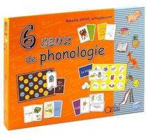 6 jeux de phonologie - ortho  - 2225525504064