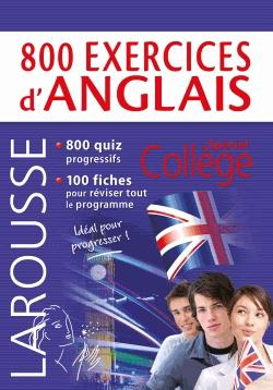 800 exercices d'anglais - larousse - 9782035927088 -