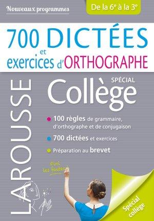 700 dictées et exercices d'orthographe - larousse - 9782035973078