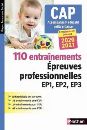 110 entraînements Epreuves professionnelles EP1 EP2 EP3 2020-2021 - Nathan - 9782091670164 -