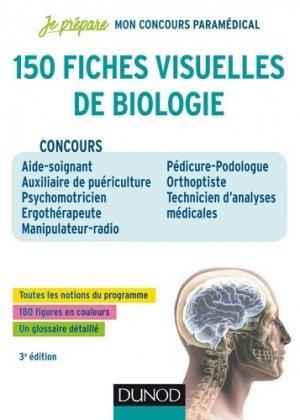 150 fiches visuelles de biologie pour réviser les concours paramédicaux - dunod - 9782100776047 -